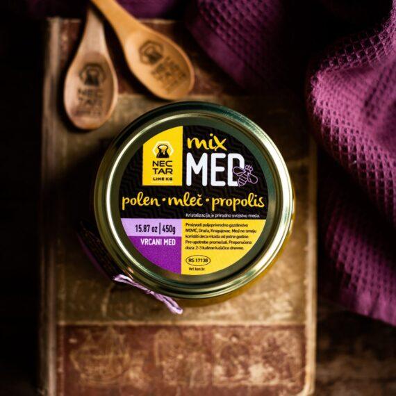 Mix: med, polen, mleč, propolis